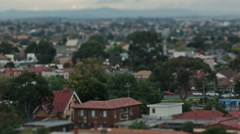 Suburban Rooftop 13 Swing Tilt Stock Footage