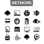 network icons - stock illustration