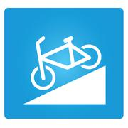 bicycle down way - stock illustration