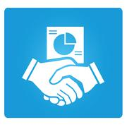 business deaing - stock illustration