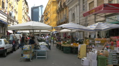 People shopping street vendors Naples, Italy - HD-P 0206 - stock footage