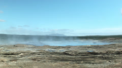 Steaming Earth around Geysir ICELAND Stock Footage