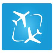 transferring plane - stock illustration