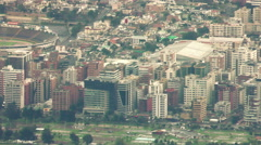 Modern city of Quito, camera pans along one of the largest boulevards, super Stock Footage