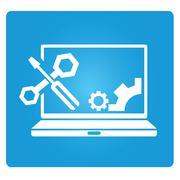 computer repair service - stock illustration