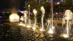 Fountain in the square in the modern district  of Macao - stock footage