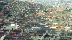 Overview of Quito historic center, popular destination in Ecuadorian capital Stock Footage