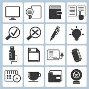 office supply icons - stock illustration