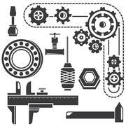 mechanical gadget - stock illustration