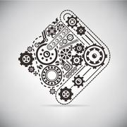 gear - stock illustration