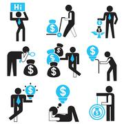 Stock Illustration of business people