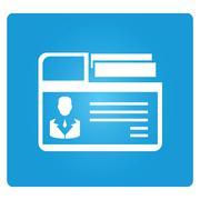 business folder - stock illustration