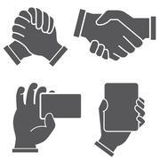 hand shake - stock illustration