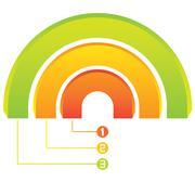 Three process diagram, circle diagram Stock Illustration