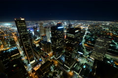 6K Time Lapse of Downtown LA Power Shut Off at Earth Hour 2015 -Full Frame- Stock Footage