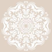 Damask Vector Orient Pattern Stock Illustration