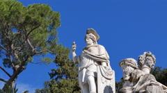 Stock Video Footage of Fontana della Dea di Roma, Zoom. Rome, Italy. 4K