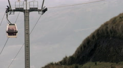 Quito touristic cable car on Pichincha volcano passing by Stock Footage