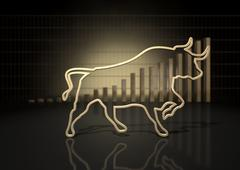 Bull Market Trend - stock illustration