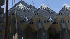 ROTTERDAM cube houses also called Blaakse Bos (Blaakse Wood) + pan Stock Footage