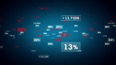 Percentages And Values Blue Hot Tracking Stock Footage