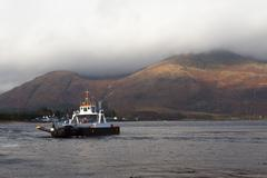Ferry Boat Crossing, Scotland - stock photo