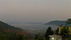 Before sunrise Khao Kho national park Stock Footage