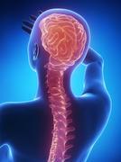 Spine pain - stock illustration
