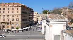 Piazzale Flaminio. Rome, Italy. 4K Stock Footage
