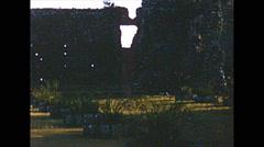 Vintage 16mm film, Panamá Viejo ruins 1960 Stock Footage