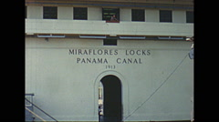 Vintage 16mm film, 1960, Panama Canal P and T Voyager transit Stock Footage