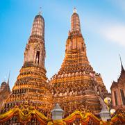 Wat Arun Temple in Bangkok, Thailand. - stock photo