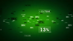 Percentages And Values Green Tracking Stock Footage