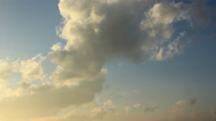 Clouds in sunlight Stock Footage