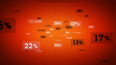 Percentages And Values Orange Zoom Stock Footage
