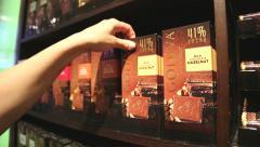 Choosing top quality chocolate Stock Footage