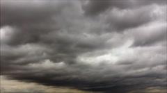 Leaden sky clouds - stock footage