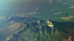 High Aerial over a mountain - stock footage