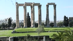 Greek temple ruins Stock Footage