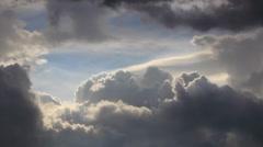 Stormy sky Stock Footage