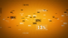 Percentages And Values Yellow Tracking Stock Footage