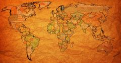 Stock Illustration of finland territory on world map