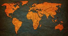 Stock Illustration of georgia territory on world map