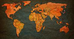 japan territory on world map - stock illustration