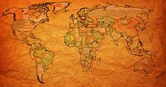 Stock Illustration of poland territory on world map