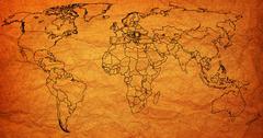 Stock Illustration of romania territory on world map