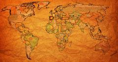 Stock Illustration of spain territory on world map