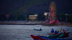 Ferris wheel in Vung Tau Stock Footage
