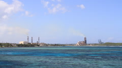 Power Plant Off the Coast of GUAM, USA Stock Footage
