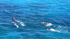 Tourists Enjoying the Ocean in GUAM, USA Stock Footage
